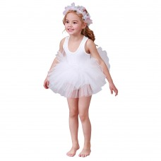 Toddler Girls Smooth Fluffy Tutu Ballet Dress, Comfort Princess Dress, Leotard Gymnastics Clothes