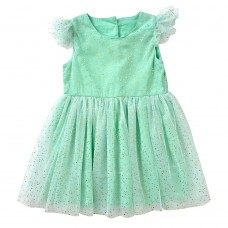 Toddler Little Girls 100% Cotton Lining Star Tulle Dress